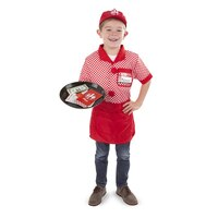 Server Role Play Costume Dress-Up Set With Realistic Accessories by Melissa & Doug