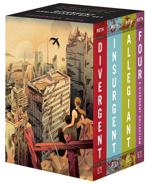Divergent Anniversary 4-book Box Set: Divergent, Insurgent, Allegiant, Four de Veronica Roth