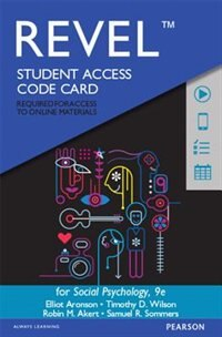 Revel For Social Psychology -- Access Code Card de Elliot Aronson