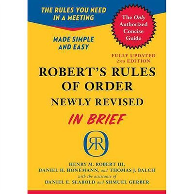 Robert's Rules of Order Newly Revised In Brief, 2nd edition de Henry M. Robert