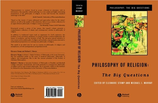 Philosophy of Religion: The Big Questions by Eleanore Stump