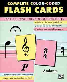 Complete Color-coded Flash Cards: For All Beginning Music Students, Flash Cards by Alfred Music