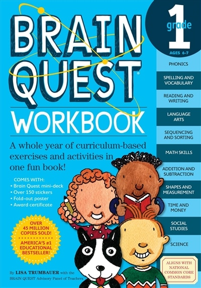 Brain Quest Workbook: 1st Grade: A Whole Year Of Curriculum-based Exercises And Activities In One Fun Book! by Lisa Trumbauer