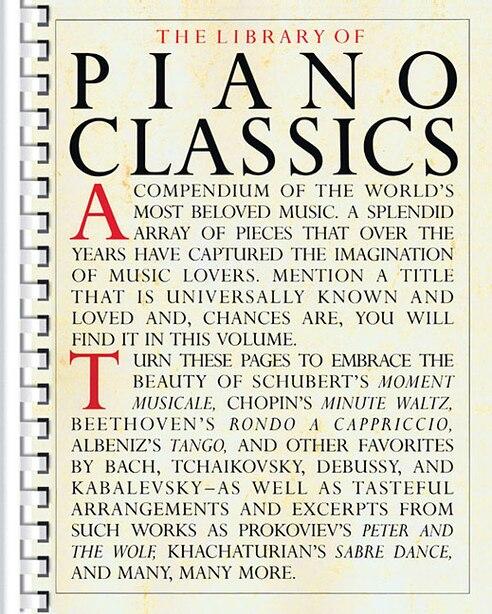 Library Of Piano Classics: Piano Solo