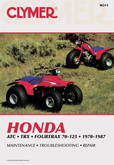 Clymer Honda Atc Trx Fourtrax 70-125, 1970-1987: Maintenance, Troubleshooting, Repair by Ed Penton Staff