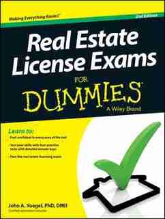 Real Estate License Exams For Dummies de John A. Yoegel