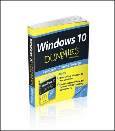 Windows 10 For Dummies Book + Online Videos Bundle de Andy Rathbone