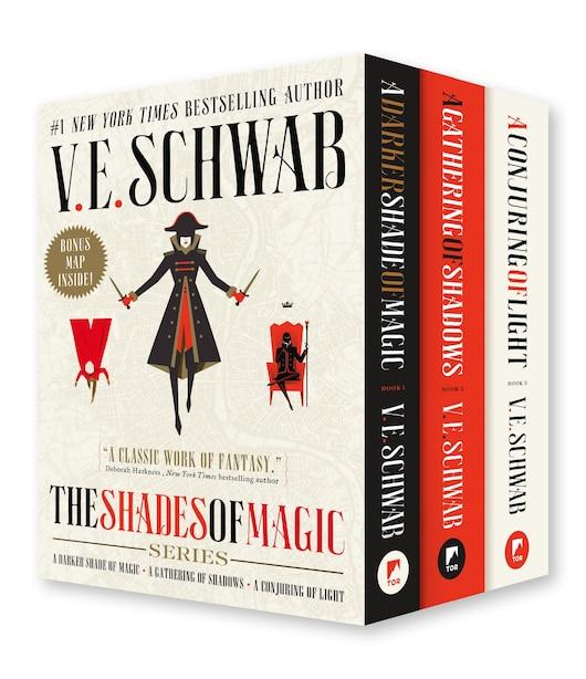 Shades Of Magic Boxed Set: A Darker Shade Of Magic, A Gathering Of Shadows, A Conjuring Of Light by V. E. SCHWAB