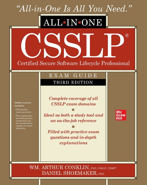 CSSLP Certification All-in-One Exam Guide, Third Edition by Wm. Arthur Conklin
