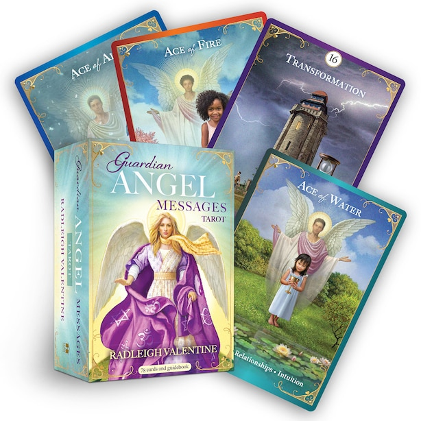 Guardian Angel Messages Tarot: A 78-card Deck And Guidebook by Radleigh Valentine