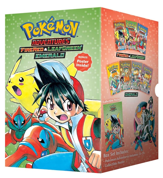 Pokémon Adventures Fire Red & Leaf Green / Emerald Box Set: Includes Volumes 23-29 de Hidenori Kusaka