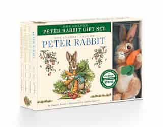 The Peter Rabbit Deluxe Plush Gift Set: The Classic Edition Board Book + Plush Stuffed Animal Toy Rabbit Gift Set by Beatrix Potter