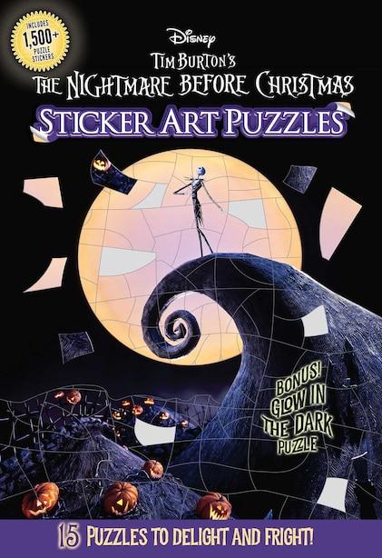 The Nightmare Before Christmas Sticker Art Puzzles de Arie Kaplan