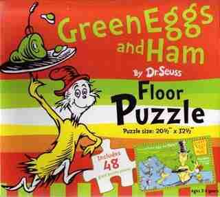 Dr Seuss Floor Puzzle Green Eggs & Ham by Seuss