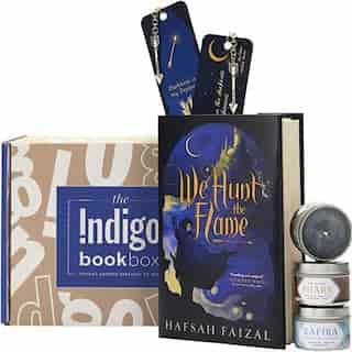 Indigo Book Box: We Hunt the Flame by Hafsah Faizal