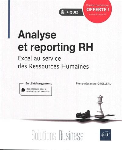 Analyse Et Reporting Rh - Excel Au Service Des Ressources Humain by Pierre-alexandre Grolleau