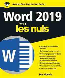 WORD 2019 POUR LES NULS by Dan Gookin