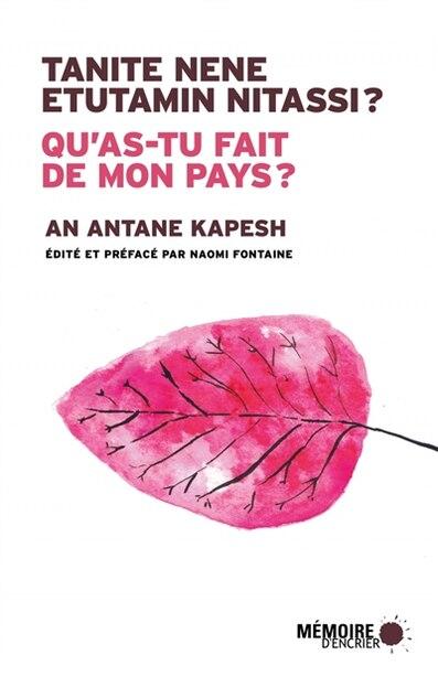 Qu'as-tu fait de mon pays ? de An Antane Kapesh