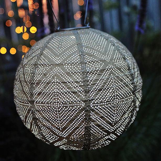 Lanterne Solaire Soji Stella Market - Bronze