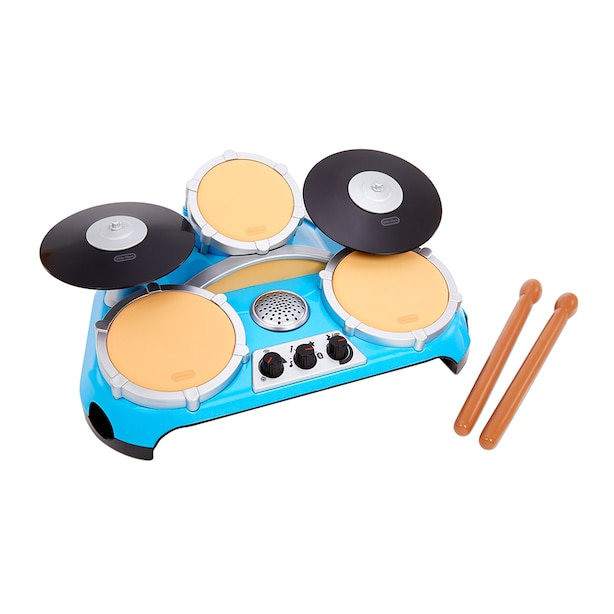 My Real Jam Drum Set, Toy Drums with Drumsticks and Case