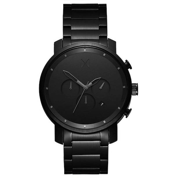 Men's Chrono Collection Watch, Black Link 45mm