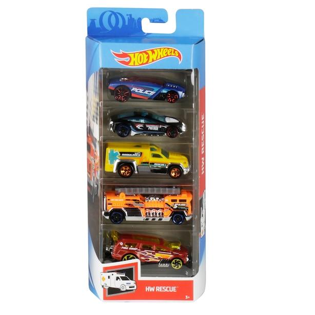 paquets 5 de voitures Hot Wheels Assorted Styles