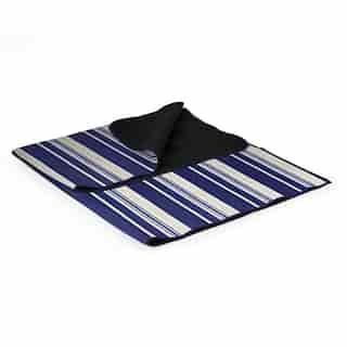 Picnic Time Blanket Tote XL Outdoor Picnic Blanket Blue Stripe