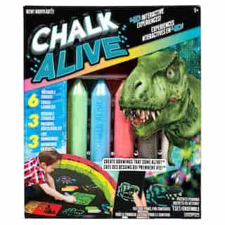 Chalk Alive™ Dino, Rocket, Racecar