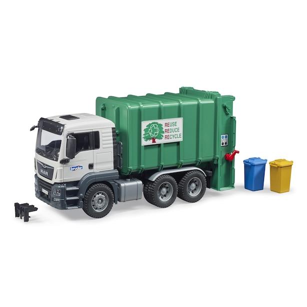 Camion poubelle à chargement arrière MAN TGS, vert