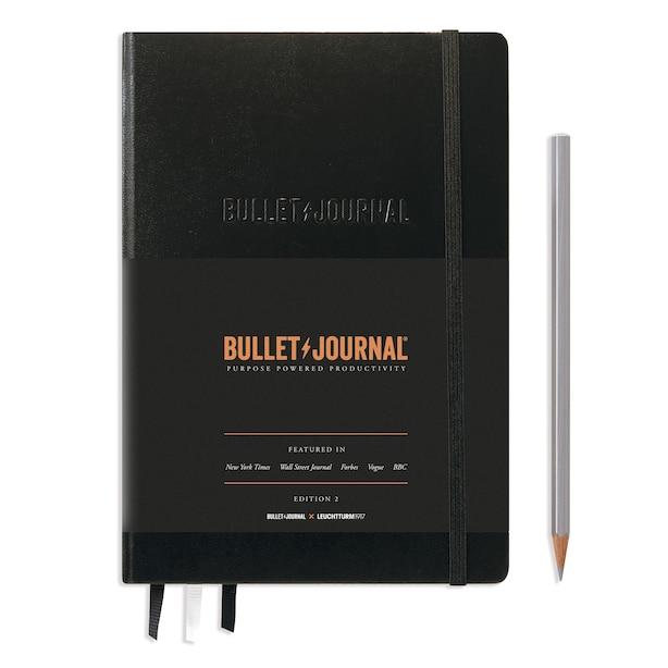 LEUCHTTURM1917 OFFICIAL BULLET JOURNAL EDITION 2 - DOTTED MEDIUM A5, BLACK