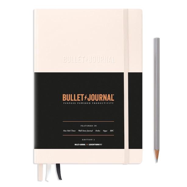 LEUCHTTURM1917 OFFICIAL BULLET JOURNAL EDITION 2 - DOTTED MEDIUM A5, BLUSH