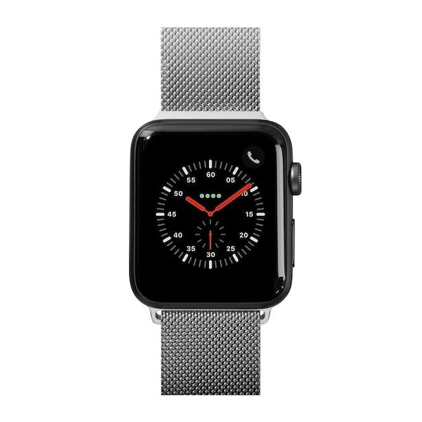LAUT STEEL LOPE pour Apple Watch 4/3/2/1- Argent - 38mm
