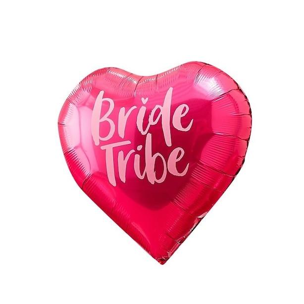 GINGER RAY- LOT DE 6 ECHARPES ROSE VIF MOTIF BRIDE TRIBE