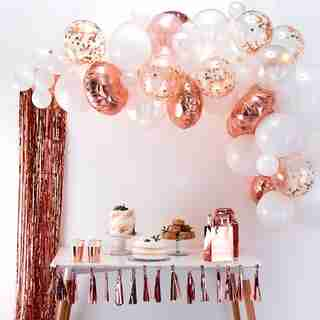 GINGER RAY BALLOON ARCH ROSE GOLD