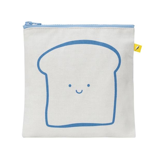 Zip Snack Sack - 'Bread' Blue (Sandwich Size)