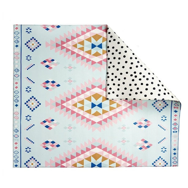 Double-sided, Non-toxic Play Mat, Moroccan/Dot
