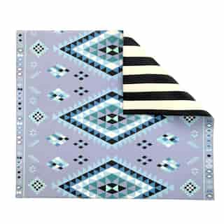 The Pieces Double-sided Play Mat, Blue Moroccan/Stripe