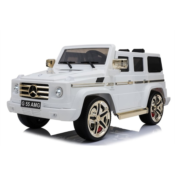 Mercedes-Benz G55 AMG Electric Ride On Toy Car (Golden&White Limited Edition)