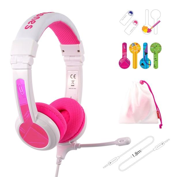 BuddyPhones School+ Headphones Pink