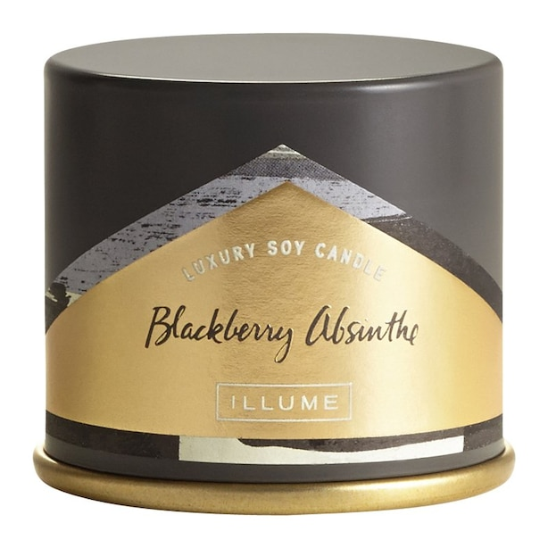 ILLUME DEMI VANITY TIN CANDLE BLACKBERRY ABSINTHE