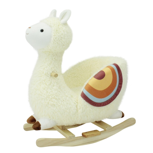 Soft Landing Joyrides Sit-In Character Rocker - Llama
