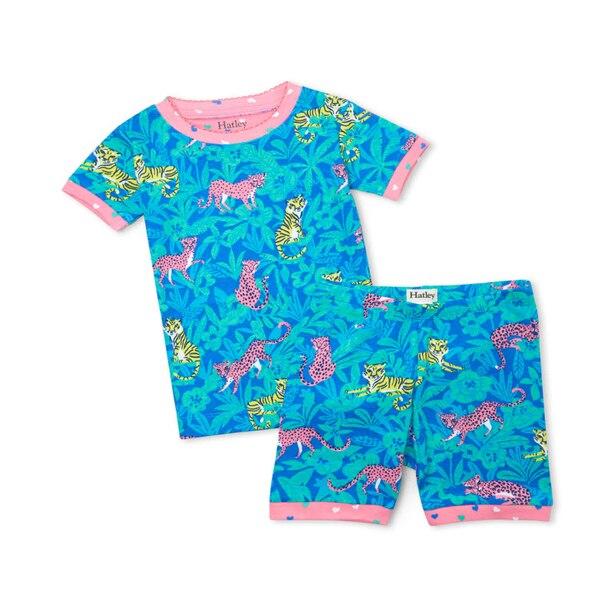 Jungle Cats Organic Cotton Short Pajama Set Size 4