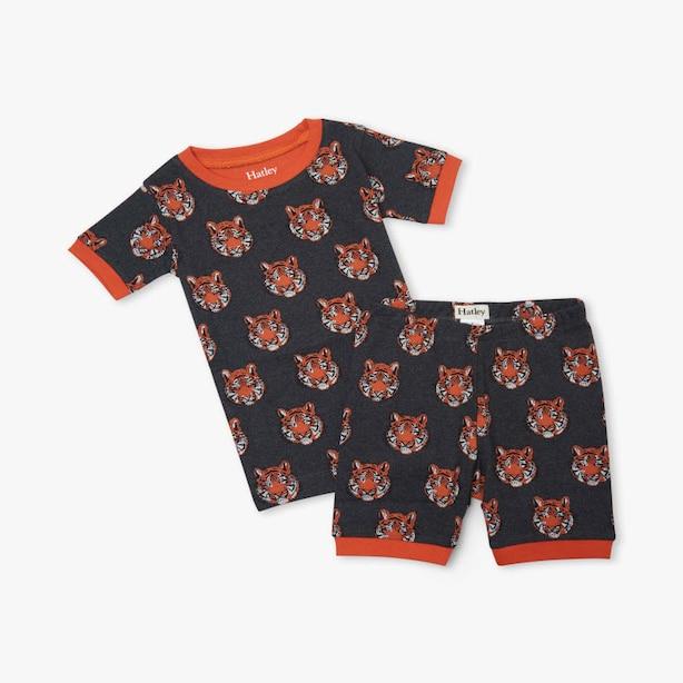 Fierce Tigers Organic Cotton Short Pajama Set Size 4