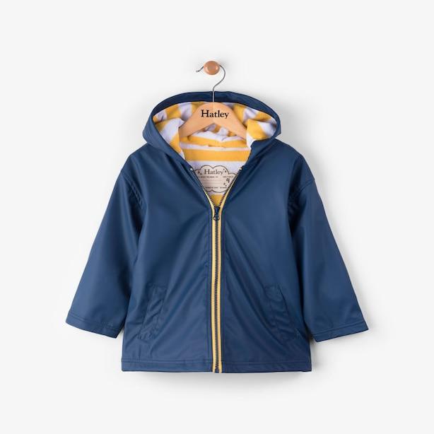 Hatley Navy & Yellow Raincoat Size 2