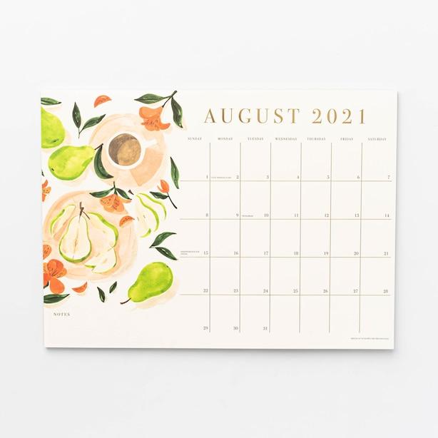 Aug 2021 - Dec 2022 17 Month Magnetic Fuit By Sabina Fenn Calendar