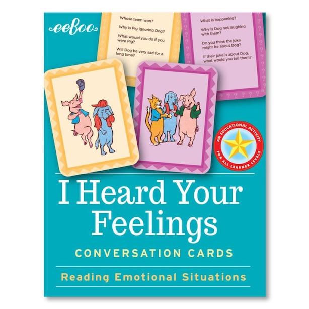 eeBoo I Heard Your Feelings Flashcards