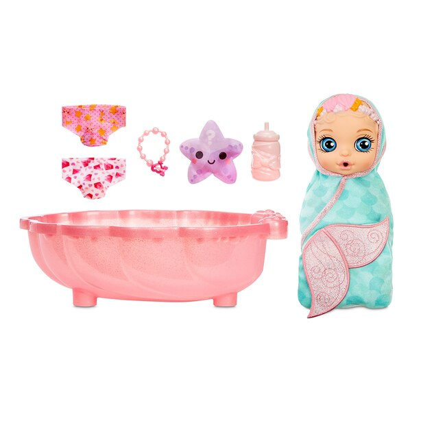 BABY born Surprise Mermaid Surprise – Baby Doll with Teal Towel with 20+ Surprises