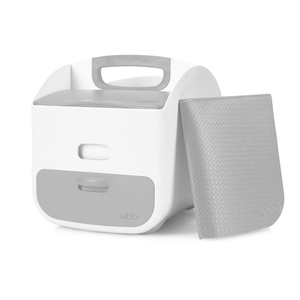 Ubbi Diaper Caddy - White and Grey