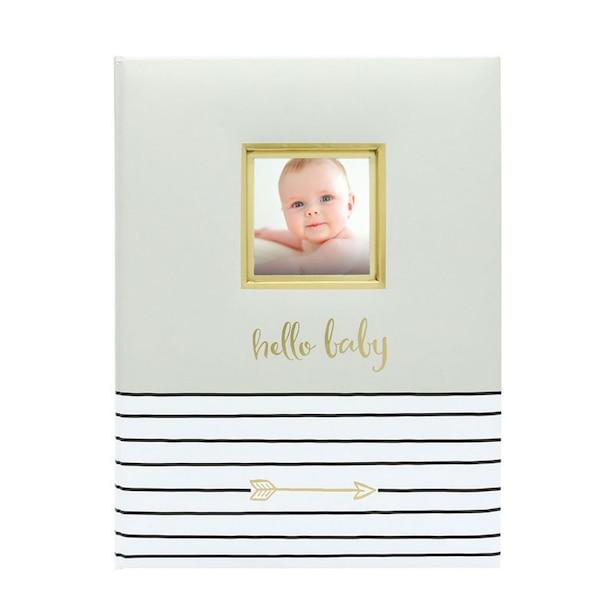 Livre pour bébés Pearhead – Hello baby, gris