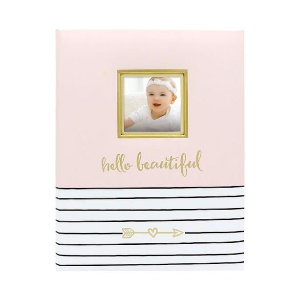Pearhead Hello Beautiful Baby Book, Pink